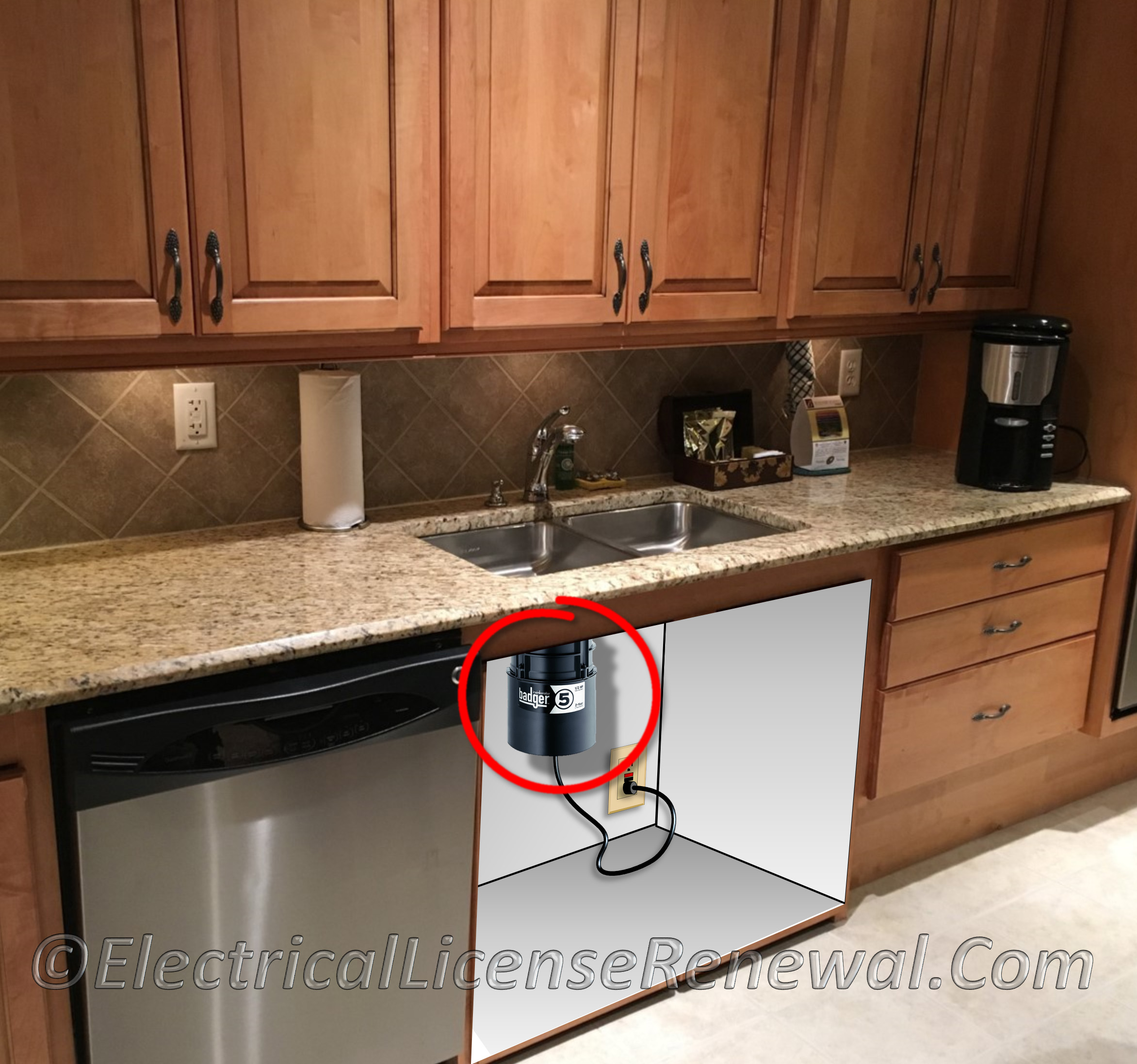 422.16(B)(1) Appliances. Electrically Operated In-Sink Waste Disposers.