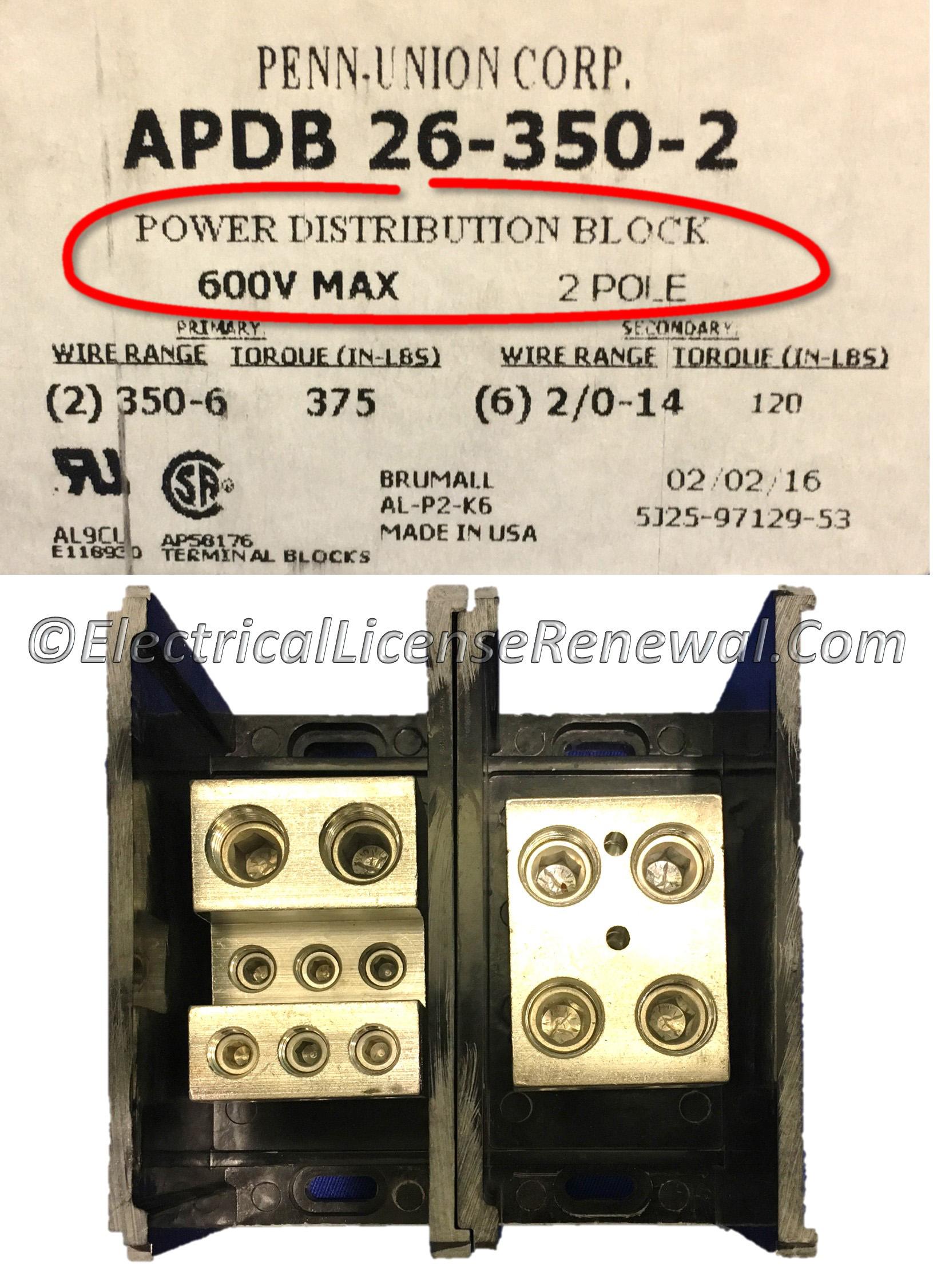 37656b Power Distribution Blocks Wiring Block