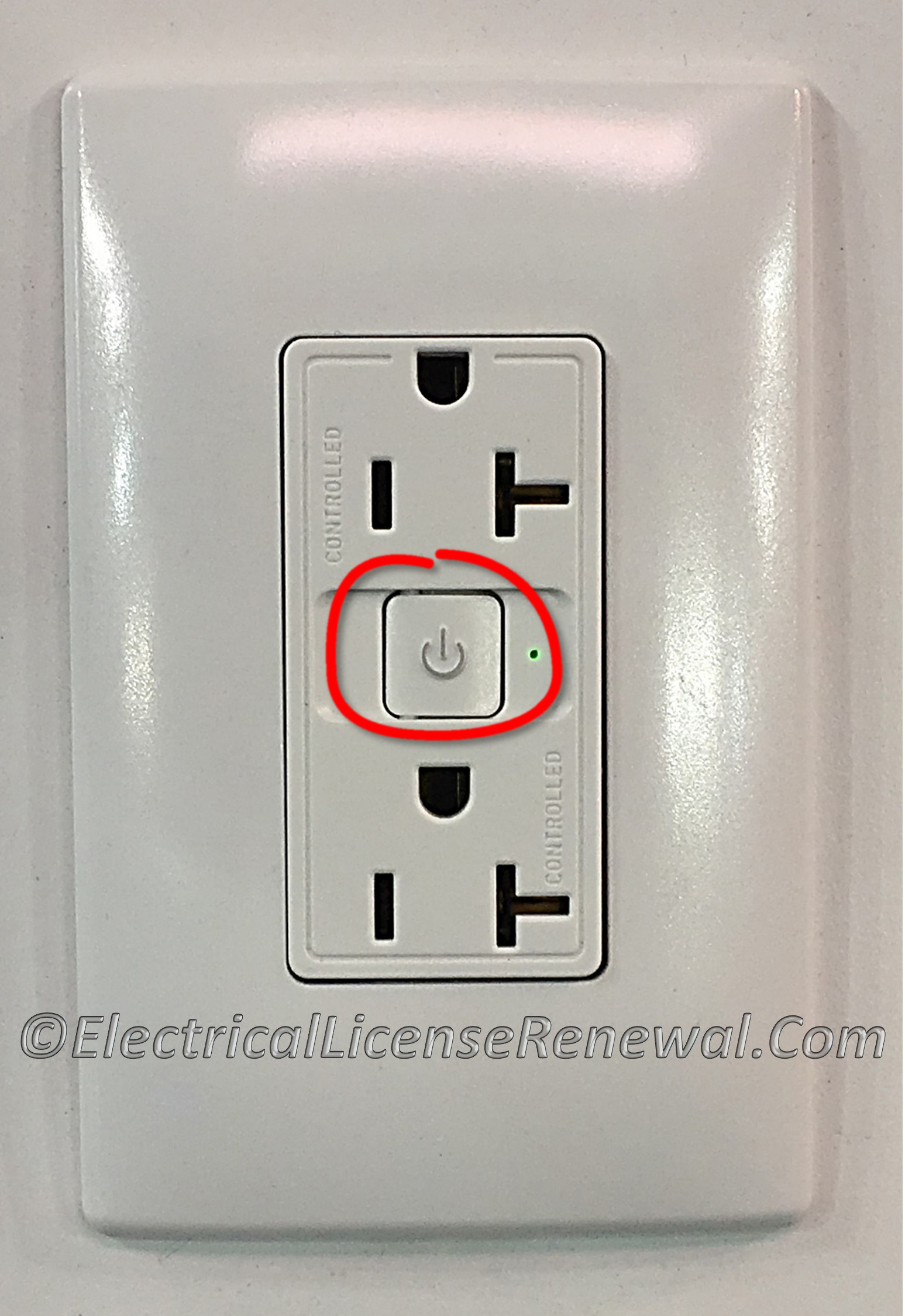 406.3(E) Controlled Receptacle Marking.
